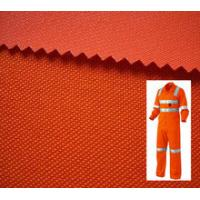 Quality Reflective Safety Workwear Orange Fabric / Fluorescent Coverall Fabric / High Visibility Fabric for worker for sale