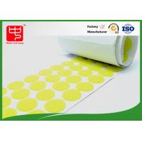 China Roll yellow color Custom  Patches , 20 * 20mm Sticky  Dots on sale