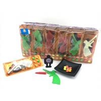Quality 3.4g Shooting Battlefield Tasty Novelty Candy Toys Compressed With Gun Multi Fruit Flavor for sale