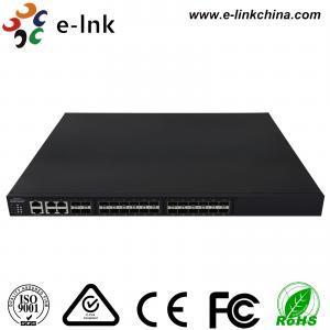 China Managed Ethernet Switch Fiber Optic 24 10Gbps SFP+ ports + 4 Gigabit TP / SFP combo ports on sale
