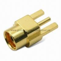 Quality MMCX Straight Jack RF Coaxial Connector for PCB Edge Mount SMT, 50 ohms for sale