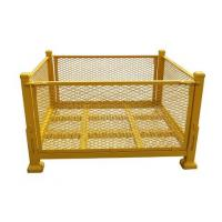 Quality Yellow Callapsible Metal Storage Containers / 1000 Kg Capacity Pallet Stillage Cage for sale