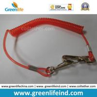 Quality Red Hot Selling PU Spring String Coil Lanyard Tether for sale