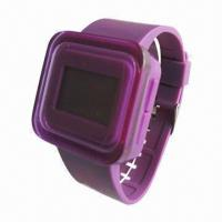 Quality Bracelet Square Digital Sports Watch, Fashionable, Made of Soft Touch Silicone for sale