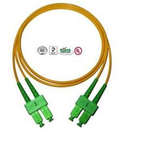 China Single Mode SC Fibre Optic Patch Cords APC , Full Duplex Fiber Optic Cable on sale