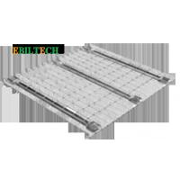 Quality Powder Coated Pallet Rack Wire Decking Metal Pallet Storage Steel Q235 B Material for sale