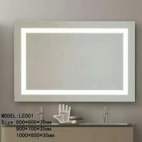 Buy cheap Bluetooth Hotel Bathroom Mirror / Led Backlit Mirror With Border from wholesalers