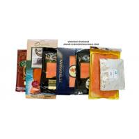 SGS High Barrier Printed Nylon / LLDPE Smoked Salmon Vacuum Packaging Bags for sale