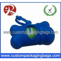 Quality Eco Friendly Dog Poop Bags Custom Printed With Bone Shape Dispenser for sale