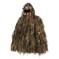Quality 3D Leaf Gillie Pull Set Leafy Hunting Suit Sneaky Ghillie Pull Over Set Gloves for sale