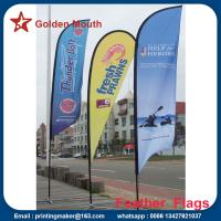 Quality Custom Outdoor Feather Banner Flags with Dye Sublimation Printing for sale
