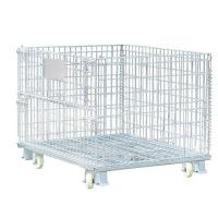 Quality Collapsible 4000lbs Welded Wire Mesh Containers 32″D x 40″L x 34″H for sale