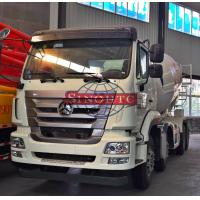 Quality 14m3 - 16m3 Volume Concrete Transport Truck 8x4 Driving Type LHD / RHD Steering for sale