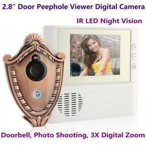 "Quality 2.8"" LCD Screen Digital Door Peephole Viewer Camera IR LED Night Vision Home Security Door Eye Electronic Doorbell Alarm for sale"