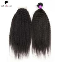 China 7A 100% Virgin Natural Black Double Drawn Human Hair Extensions Tangle Free on sale