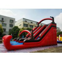 China Silk Printing Large Pirate Inflatable Slip Slide For Backyard Activities on sale