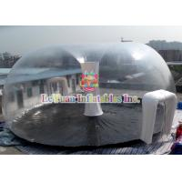 Quality PVC Airtight Tent For Beach , Inflatable Clear Dome Tent Rain Resistance for sale