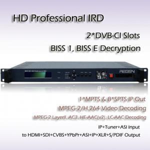 Quality Professional IRD DVB-T/T2 Demodulator HD H.264 Decoder SDI HDMI Output for sale