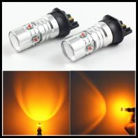 Amber White Canbus PWY24W PW24W LED Bulb for AUDI A3 A4 A5 Q3 for MK7 Golf CC Front LED Turn Signal Lights BM.W F30 DRL