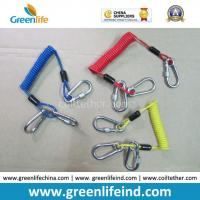 Quality Customized Carabiner Colorful Tool Coiled Tether Cords for sale