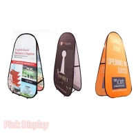 Quality Outdoor Non Toxic Pink Display Pop Up Banner Stand for sale