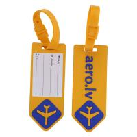 Quality Custom Silicone Luggage Tag For Airlines Advertisement - With Name ID Card and Flexible Strap for Travel Bag or Suitcase for sale