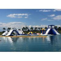 Quality Customized Giant Green Isle Inflatable Water Park , Inflatable Fun Park For Island for sale