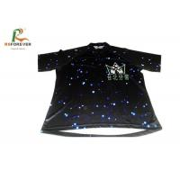 Quality Black 3D Sublimation Custom Printed T Shirts For Club Team 100 Percent Cotton for sale
