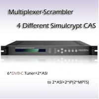 Quality TS Multiplexer-Scrambler AIO 6*ISDB-T Tuner and 2*ASI input RTS4502 for sale