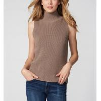 China Cutaway Sleeveless Knit Pullover Sweater Merino Wool Material Thin For Female on sale