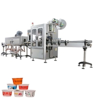 Buy cheap Plastic cups shrink sleeve labeling machine coffee cups shrink sleeve applicator from wholesalers