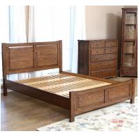 Handmade Queen Size Wood Bed Frame , Natural Solid Wood King Size Bed Frame