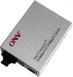 China Single Mode 10M / 100M PoE Media Converter Plug And Play 1310nm Wavelength on sale
