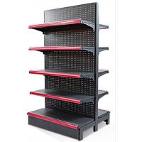 Quality 5 Layers Q235 Steel Black Display Shelf With End Unit For Retail Stores for sale
