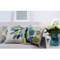 Best Heavy Weight Linen Digital Printed Leaves Home Decor Pillows For Sofa wholesale