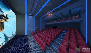 Quality International 50-120 People 3D Cinema With 120HZ Projector Silver Screen for sale