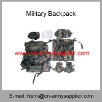 Wholesale Cheap China Army Woodland Camouflage Military Police Alicebag Backpack