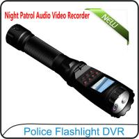 Quality 1080P Police Flashlight DVR On-site Enforcement Audio Recorder Night Patrol Video Camera for sale