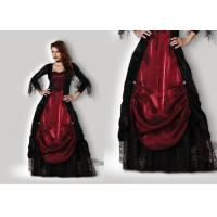 Quality Gothic Vampiress 1002 Halloween Adult Costumes Red Black Color With Petticoat for sale