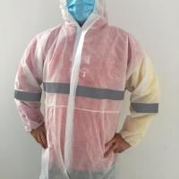 Quality Non Woven Disposable Coverall Suit / Disposable Work Coveralls S-XXXL Size for sale
