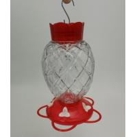 Pineapple Shape Easy To Clean Hummingbird Feeder Plastic Clear Red Lid And Bottom