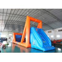 China Green Inflatable Zip Line Sports For Outdoor Event Adventure Games on sale