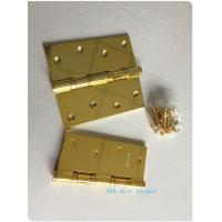 Buy cheap OEM Ring Stainless Steel Ball Bearing Door Hinges GP Golden Plated 3.0mm from wholesalers