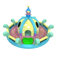 China Outdoor Bouncer Slide Inflatable Play Park Trampoline Playground on sale
