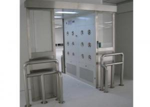 Quality 1.2mm Thickness Stainless Steel Air Shower Tunnel Infrared Auto Sliding Doors for sale