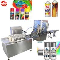 Best Automatic Aerosol Filling Machine Production Line for Spray Paint 2000-3200cans/hr wholesale