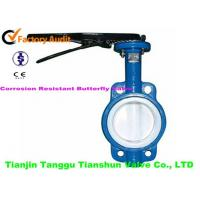 Quality API Corrosion Resistant Valves Butterfly Lever Operated , DN100 for sale