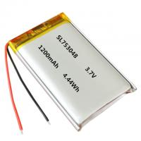 Buy cheap 753048 3.7v 1200mAh li polymer battery with CB and KC certificates from wholesalers