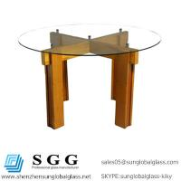 Quality dining table to used High quality clear round glass top for sale