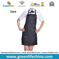Quality Classic black promotional plan aprons in stock ready for customized logo advertisment need for sale